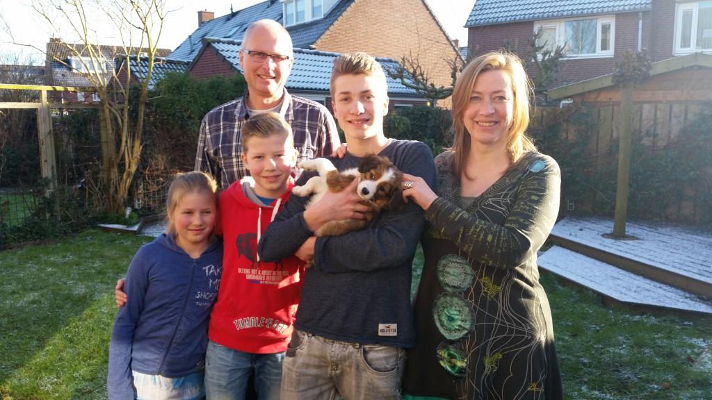 Astrid, Wim met hun kids Maarten, Jelle en Sonja