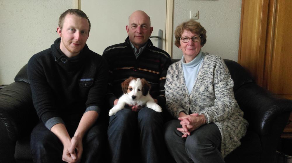Boef (Adax) met Hans, Marie-José en Huub